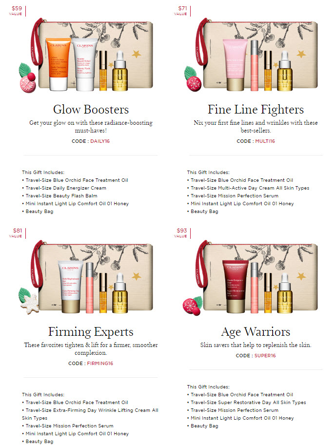 Receive your choice of 5-piece bonus gift with your $80 Clarins purchase