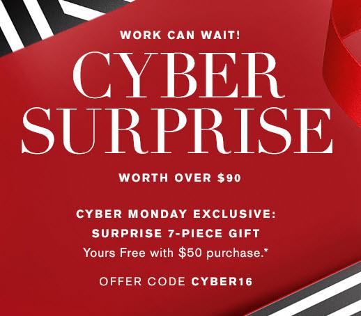 Receive a free 7-piece bonus gift with your $50 Estée Lauder purchase
