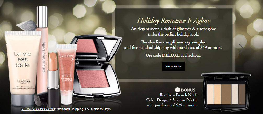 Receive a free 6-piece bonus gift with your $75 Lancôme purchase