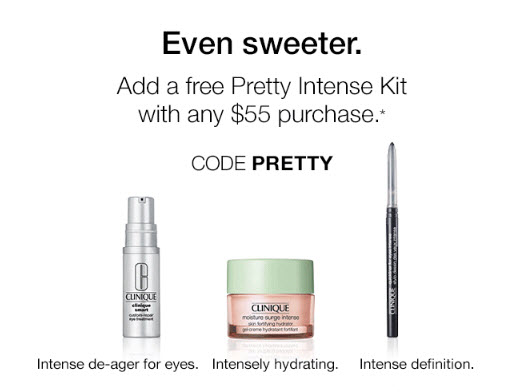 Receive a free 3-piece bonus gift with your $55 Clinique purchase