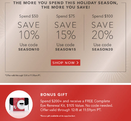 Receive a free 3-piece bonus gift with your $200 Algenist purchase