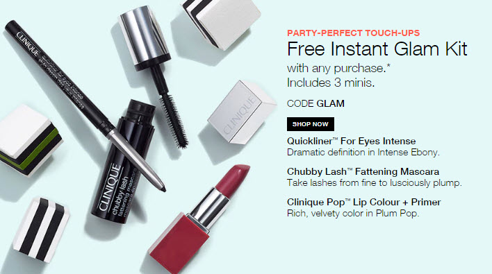 Receive a free 3-piece bonus gift with your Clinique purchase