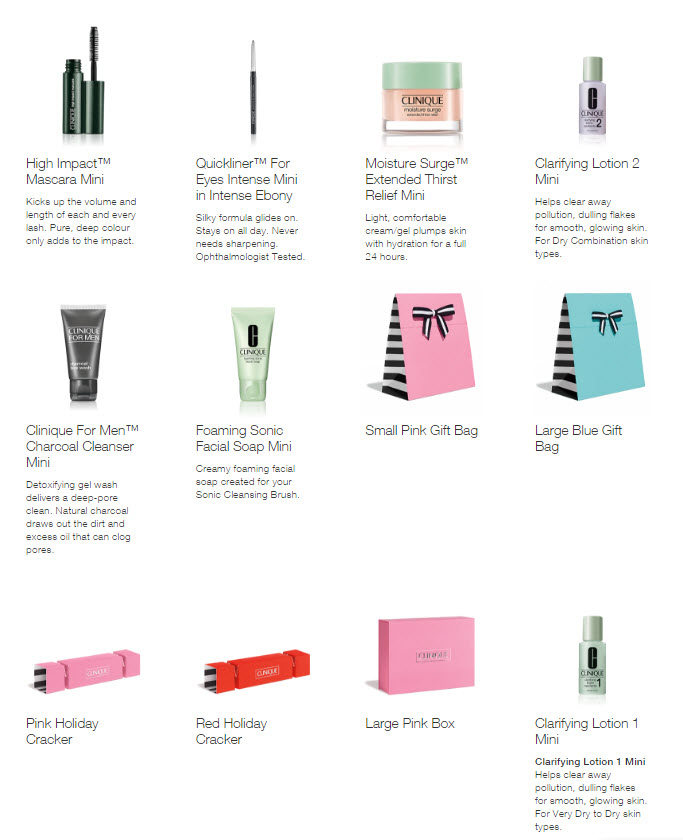 Receive a free 6-piece bonus gift with your Clinique purchase