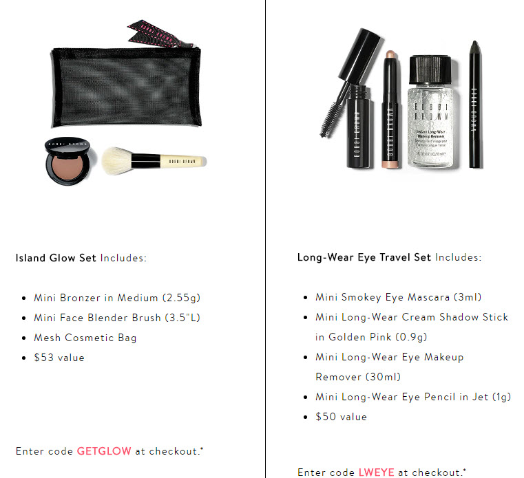 Receive your choice of 3-piece bonus gift with your $100 Bobbi Brown purchase