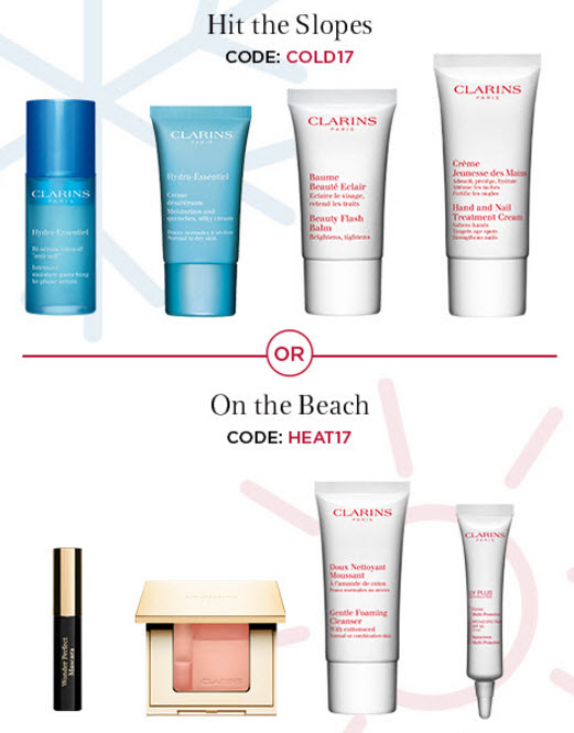 Receive your choice of 4-piece bonus gift with your $100 Clarins purchase