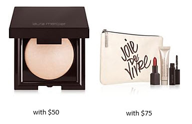 Receive a free 5-piece bonus gift with your $75 Laura Mercier purchase