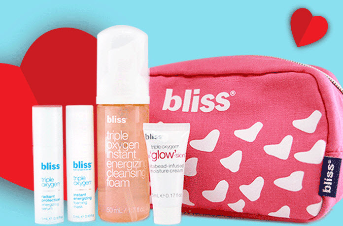 Receive a free 5-piece bonus gift with your $75 Bliss purchase