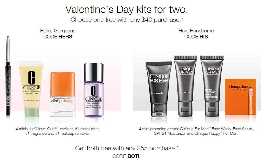 Receive a free 8-piece bonus gift with your $55 Clinique purchase