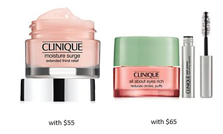 Receive a free 3-piece bonus gift with your $65 Clinique purchase