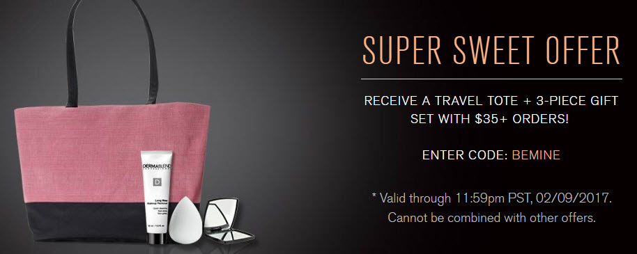 Receive a free 4- piece bonus gift with your $35 Dermablend purchase