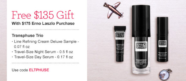 Receive a free 3-piece bonus gift with your $175 Erno Laszlo purchase