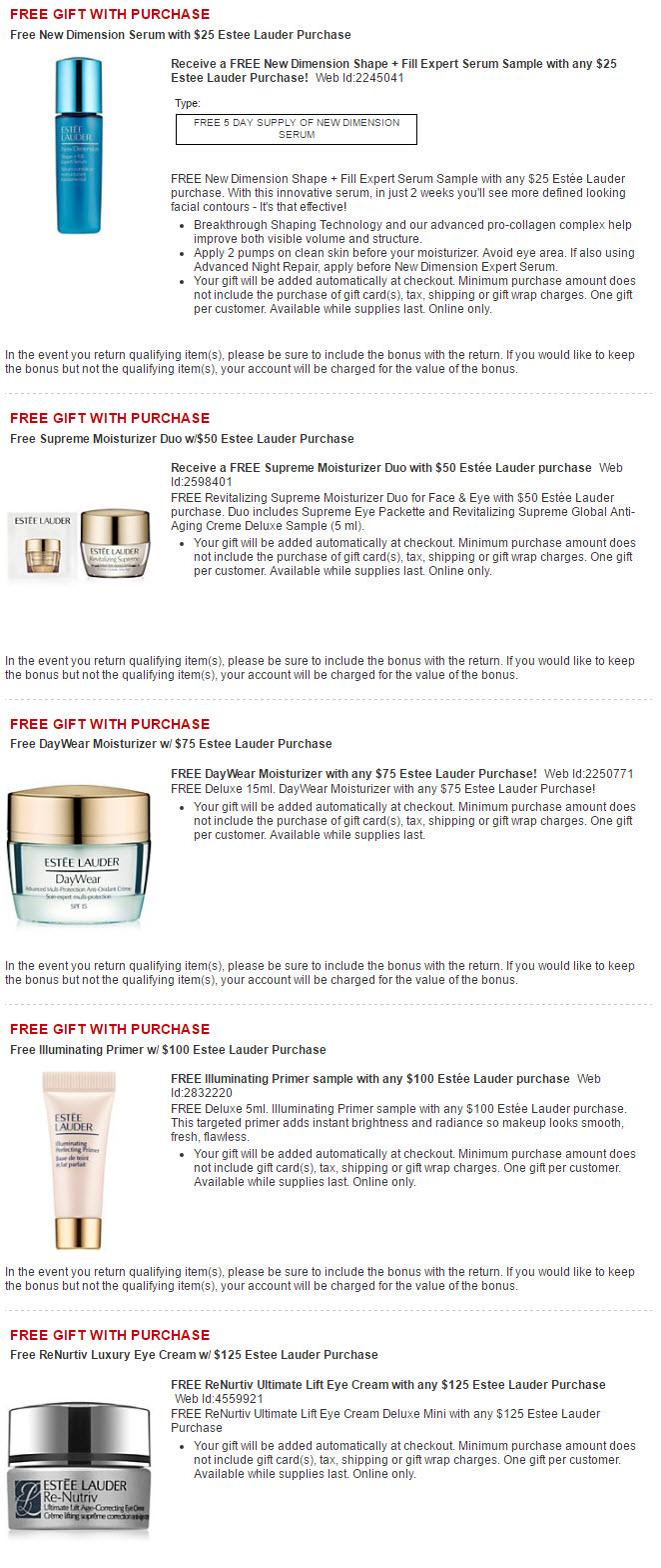 Receive a free 3-piece bonus gift with your $50 Estée Lauder purchase