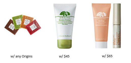 Receive a free 7-piece bonus gift with your $65 Origins purchase