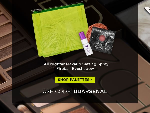 Receive a free 3-piece bonus gift with your Urban Decay Palette purchase