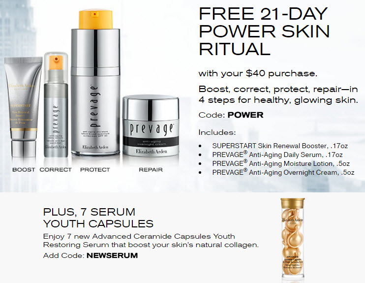 Receive a free 11-piece bonus gift with your $40 Elizabeth Arden purchase