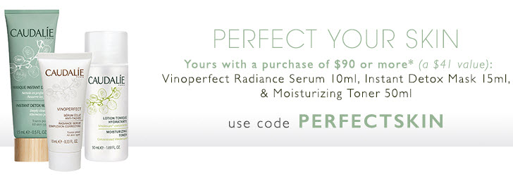Receive a free 3-piece bonus gift with your $90 Caudalie purchase