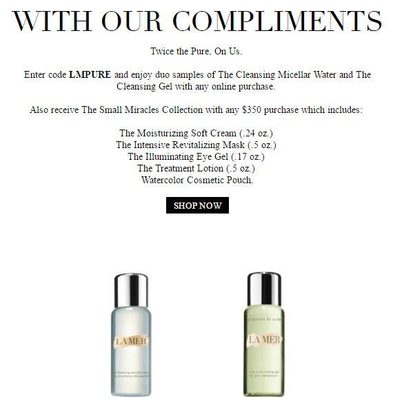 La Mer Free Bonus Gift with Purchase - MakeupBonuses.com