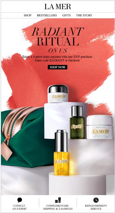 La Mer 4pc Free Bonus Gift with Purchase - MakeupBonuses.com