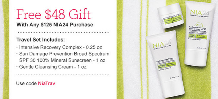 Receive a free 3- piece bonus gift with your $125 NIA24 purchase