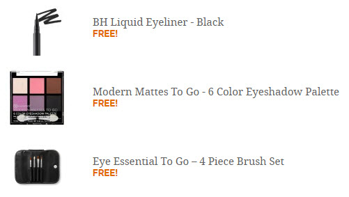 Receive a free 3-piece bonus gift with your $25 BH Cosmetics purchase