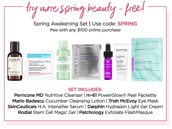 Receive a free 7- piece bonus gift with your $100 Multi-Brand purchase