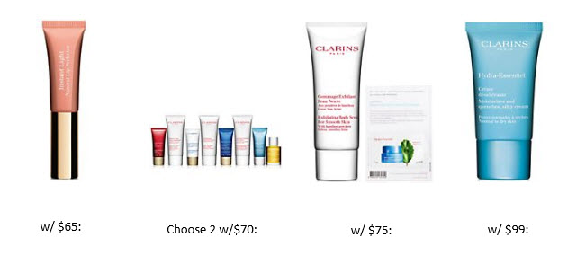 Receive your choice of 3-piece bonus gift with your $70 Clarins purchase