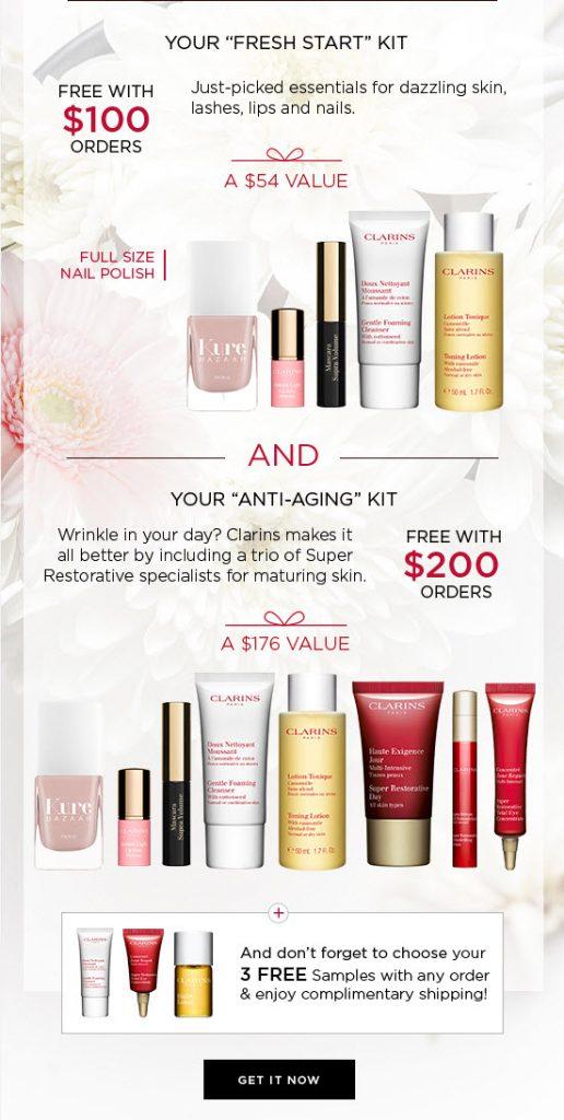 Clarins Free Bonus Gift With Purchase Makeup Bonuses