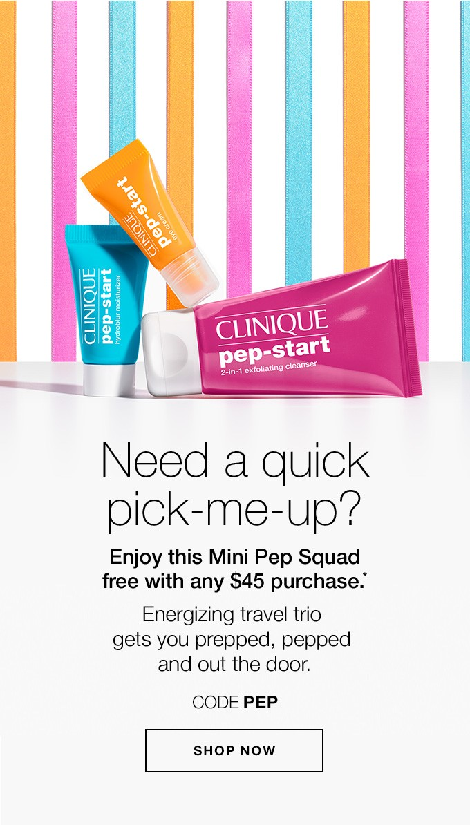 Receive a free 3-piece bonus gift with your $45 Clinique purchase