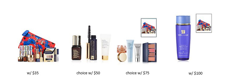 Receive your choice of 12-piece bonus gift with your $100 Estée Lauder purchase