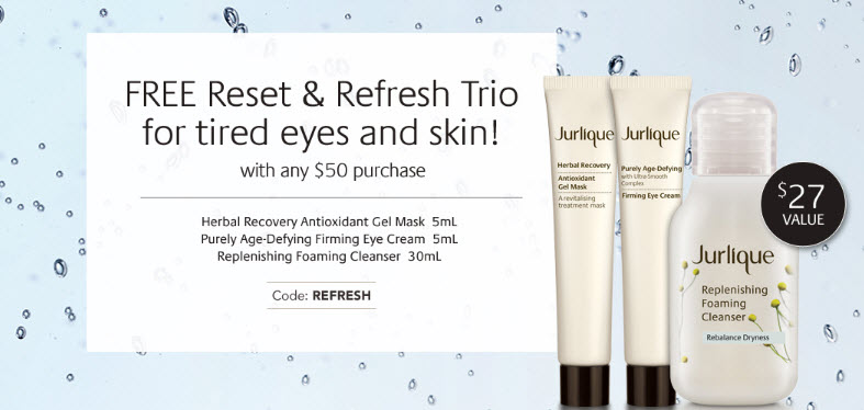 Receive a free 3- piece bonus gift with your $50 Jurlique purchase