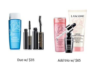 Receive a free 5-piece bonus gift with your $65 Lancôme purchase