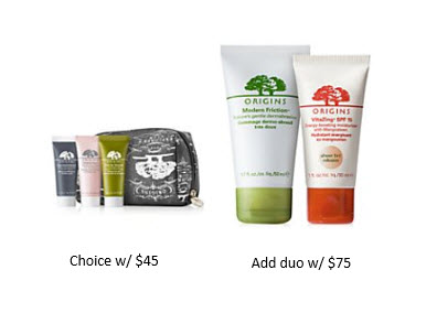 Receive a free 6-piece bonus gift with your $75 Origins purchase