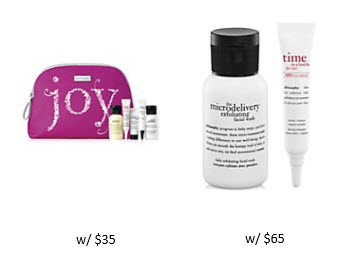 Receive a free 8-piece bonus gift with your $65 philosophy purchase