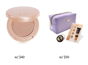 Receive a free 4-piece bonus gift with your $50 Tarte purchase