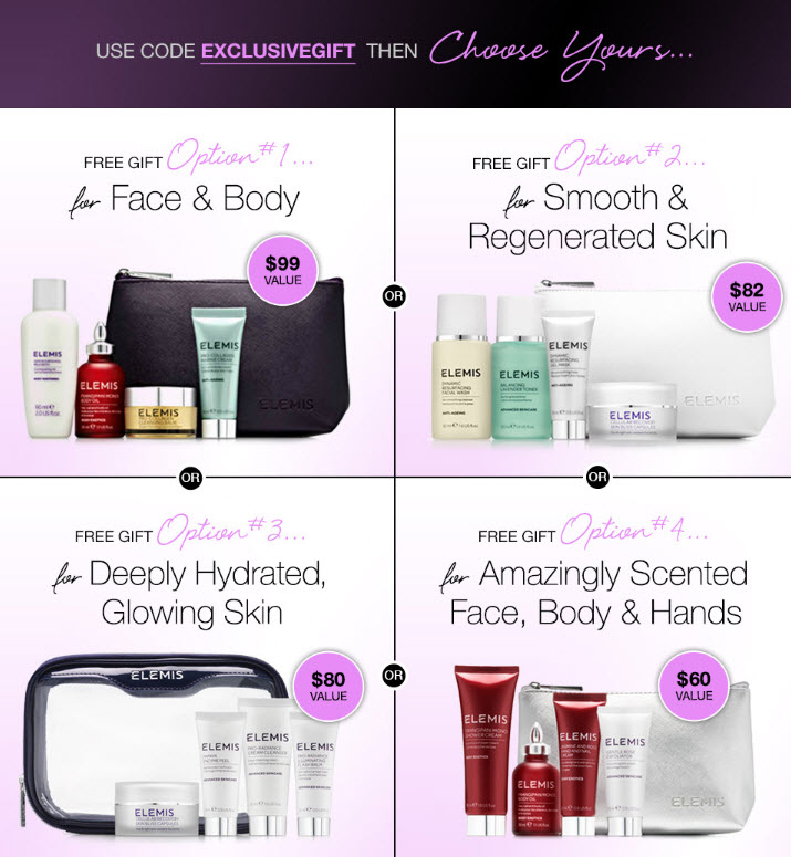 Receive your choice of 5-piece bonus gift with your $99 Multi-Brand purchase