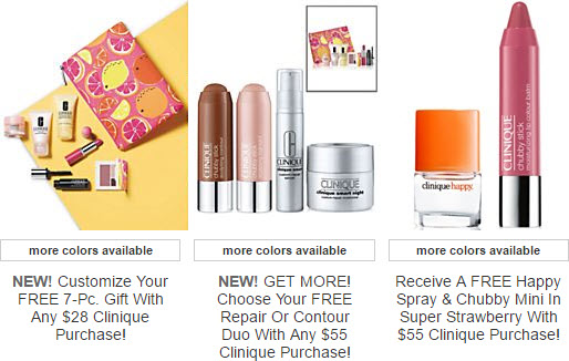 Receive a free 11-piece bonus gift with your $55 Clinique purchase