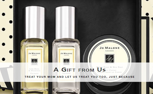 Receive a free 3-piece bonus gift with your $130 Jo Malone purchase