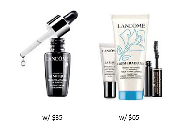 Receive a free 4-piece bonus gift with your $65 Lancôme purchase