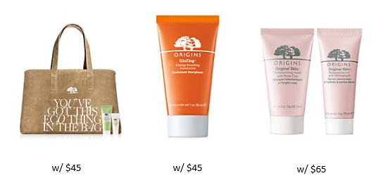 Receive a free 6-piece bonus gift with your $65 Origins purchase