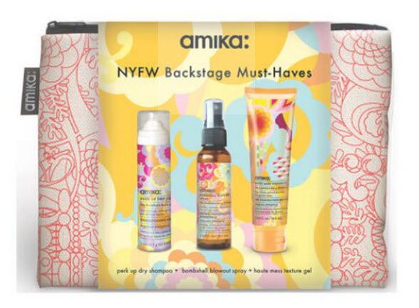 Receive a free 4-piece bonus gift with your $48 Amika purchase