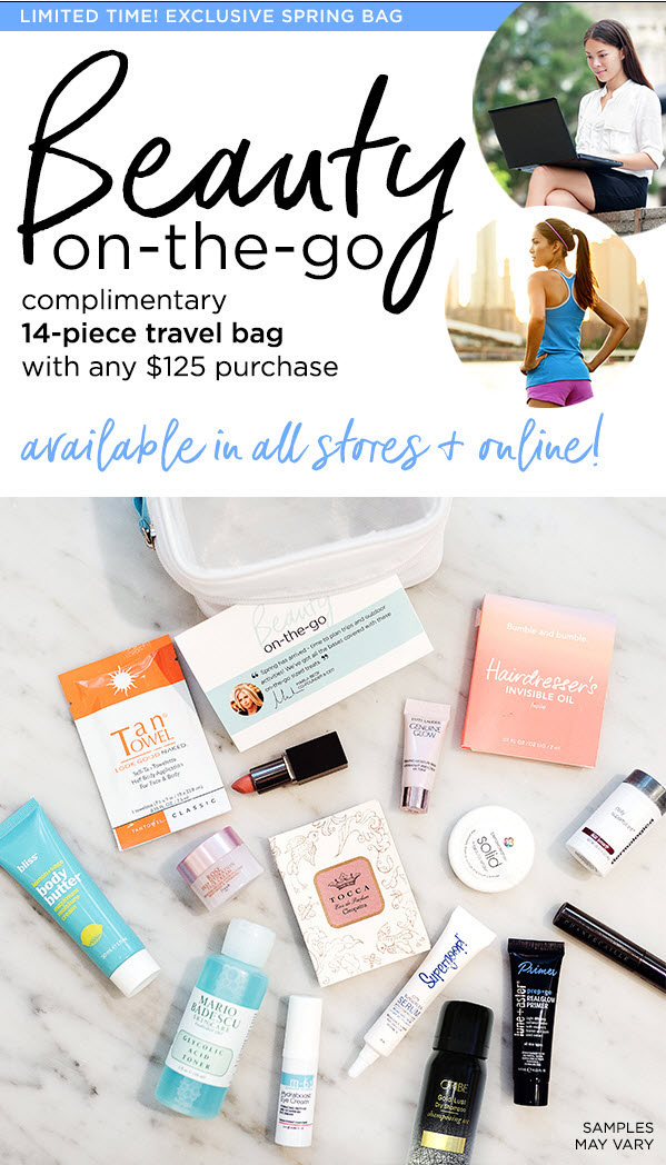 Receive a free 14-piece bonus gift with your $125 Multi-Brand purchase