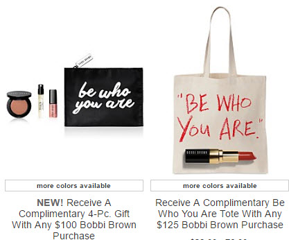 Receive a free 5-piece bonus gift with your $125 Bobbi Brown purchase