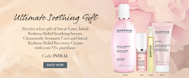 Receive a free 4-piece bonus gift with your $75 Darphin purchase