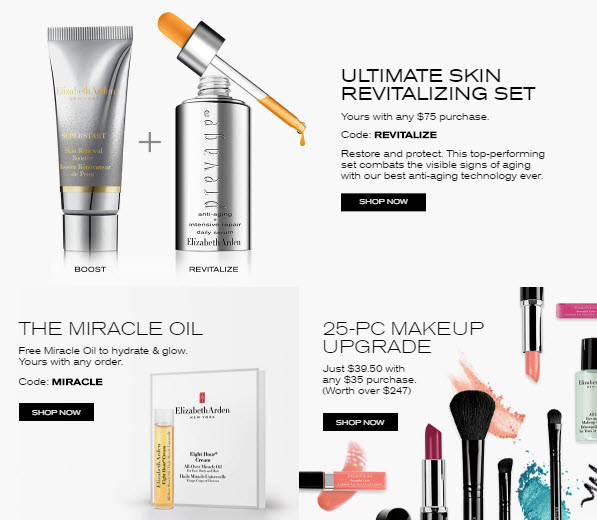 Receive a free 3-piece bonus gift with your $75 Elizabeth Arden purchase