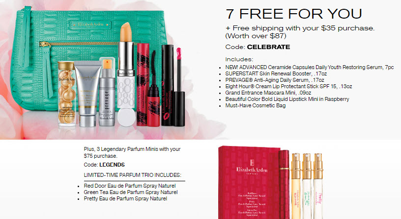 Elizabeth Arden Free Gifts With Purchase Makeup Bonuses