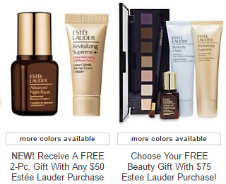 Receive your choice of 3-piece bonus gift with your $75 Estée Lauder purchase