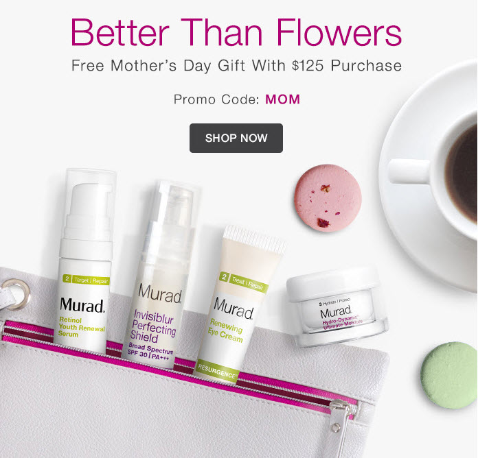 Receive a free 5-piece bonus gift with your $125 Murad purchase