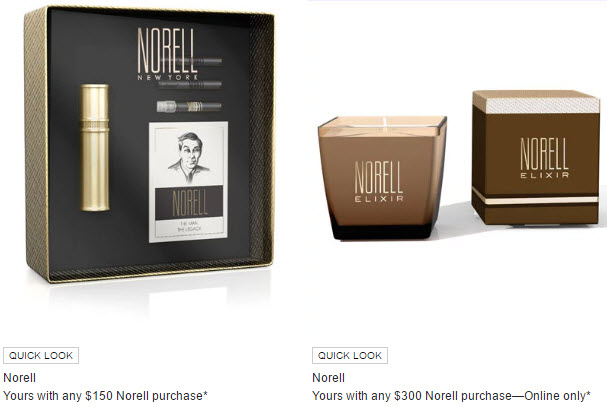 Receive a free 5-piece bonus gift with your $300 Norell New York purchase