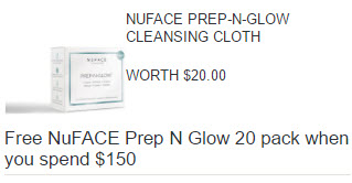 Receive a free 20-piece bonus gift with your $150 NuFace purchase
