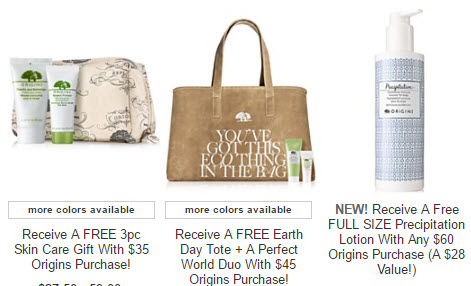 Receive a free 7-piece bonus gift with your $60 Origins purchase
